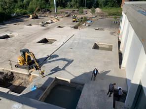 Vorbereitung Fundamente für die neue Halle